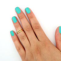 sterling silver Gold filled knuckle ring simple design above knuckle ring adjustable midi ring also toe ring (T-10)