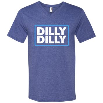 Bud Light Official Dilly Dilly T-Shirt 982 Anvil Men's Printed V-Neck T-Shirt