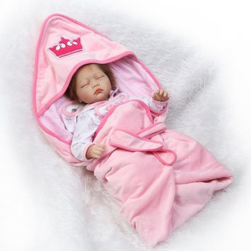 50cm Hot Sale NPK Real Silicon Baby Dolls About 20inch Lovely Doll reborn For Baby Gift Bonecal Bebe Reborn Brinquedos