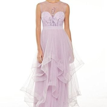 Sienna Sleeveless Sparkle Tulle Evening Event Prom Dress