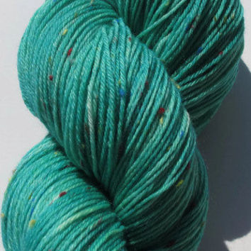 Hand Dyed Sock Yarn in the Little Mermaid by flickertailfibers