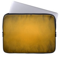 Yellow glowing spotlight laptop sleeve