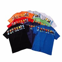 ''Supreme'' Fashion Hot letters print T-shirt top