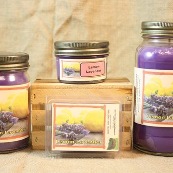 Lemon Lavender Scent Candles and Wax Melts, Flower Scent Candle Wax, Highly Scented Candles and Wax Tarts, Yankee Type Candle