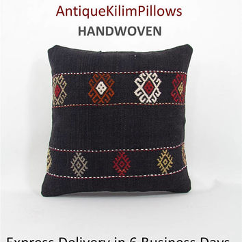 throw pillow antique kilim pillow boho rug pillow throw pillow cover decorative pillow home decor pillows 000950