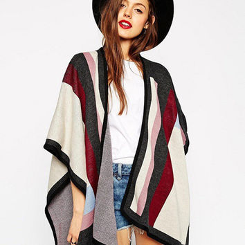 Multi Color Knitted Cardigan