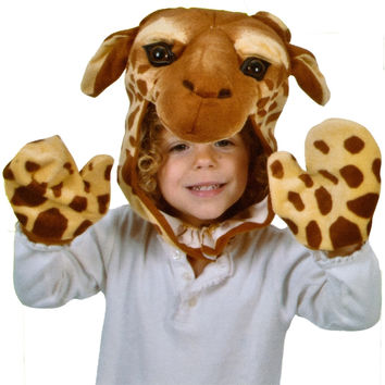 Giraffe Cap & Paw Kid's Costume Set