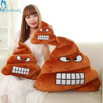 New year Cushion Emoji Pillow Gift Cute Shits Poop Stuffed Toy Doll Christmas Present Funny Plush Bolster Cojines Pillow Cushion