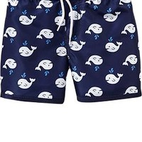 Patterned Swim Trunks for Baby