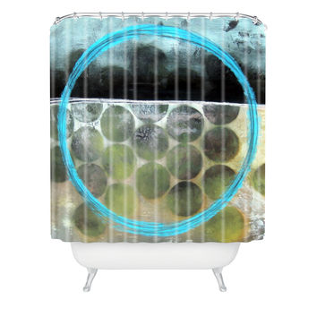 Sophia Buddenhagen Blue Circle Shower Curtain