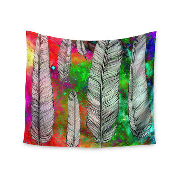 "Suzanne Carter ""Feather"" Rainbow Space Wall Tapestry"