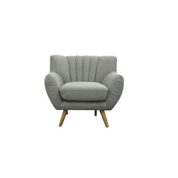 Mid-Century Modern Lounge Chair LILLY - Light Grey