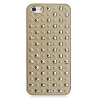 Silver Rivets Hard Back Case for iPhone 5 & 5S