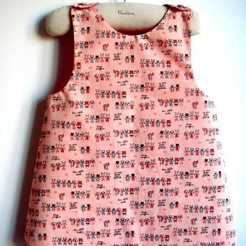 French A l'Ecole Reversible Pinafore  NEW  by chocolatineboutique