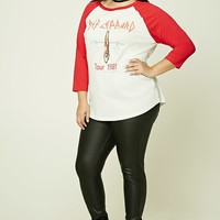 Plus Size Def Leppard Band Tee
