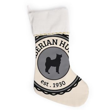 "KESS Original ""Husky"" Husky Dog Christmas Stocking"
