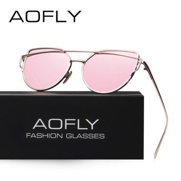 AOFLY Fashion Sunglasses Women Popular Brand Design Polarized Sunglasses Summer HD Polaroid Lens Sun Glasses AF2285