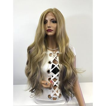 Ombre blond lace front wig - Confident 218 1