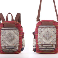 Small Backpack Traditional Oriental Messenger bag, Cross body bag, Travel Bag, Day Bag