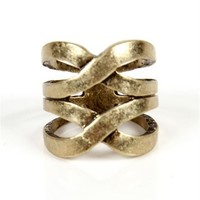 Antique Gold Infinite Ring