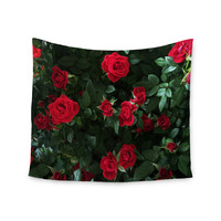 "Chelsea Victoria ""Juliets Garden "" Red Floral Wall Tapestry"