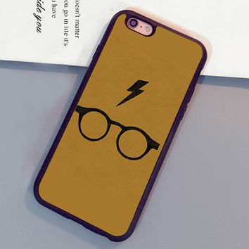 Harry Potter glasses Pattern Mobile Phone Cases For iPhone 6 6S Plus 7 7 Plus 5 5S 5C SE 4S Soft Rubber Skin Cover Shell OEM