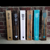 Wooden Arrows - wood arrows - reclaimed arrows - arrow art - wall arrows - arrow sign
