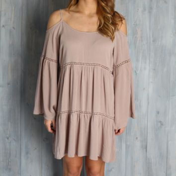Umgee Mocha Boho Babe Dress