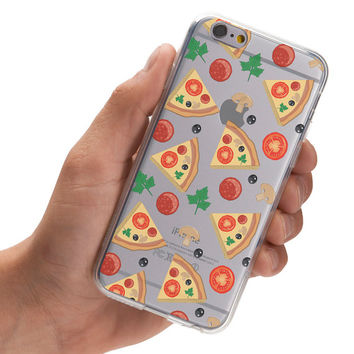 Watercolor Pizza Pattern - Super Slim - Printed Case for iPhone - S049