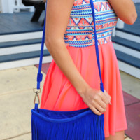 Oh My Fringes Purse: Royal Blue | Hope's