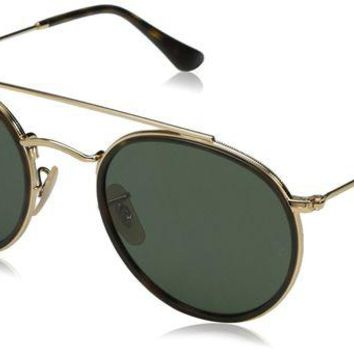 ONETOW Ray-Ban Women's Round Aviator Flash Sunglasses