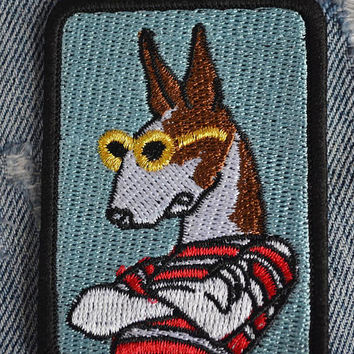 Embroidered Cartoon Horse Iron On Back Patch,Sew on Horse  Applique