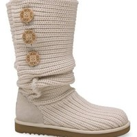 Women's UGG Classic Cardy Boots, CREAM/NATURAL, Size 8 B(M) US