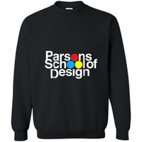 Parsons School of Design - 1980s Printed Crewneck Pullover Sweatshirt