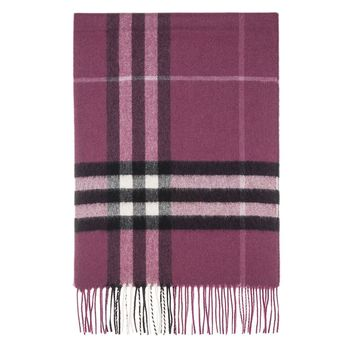 Burberry Women's Heritage Giant Check Scarf Purple Black