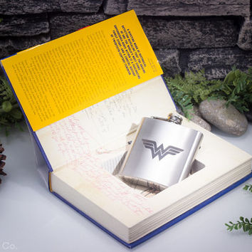 Hollow Book Safe & Hip Flask- The Secret History of Wonder Woman