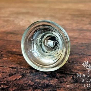Modern Farmhouse Furniture Glass Drawer Knobs Round Knob Rustic Knob Number Cabinet Knobs Large Clear Glass Knobs Glass Dresser Hardware