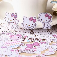 32pcs Creative kawaii self-made cute hello kitty stickers beautiful stickers /decorative sticker /DIY craft photo albums