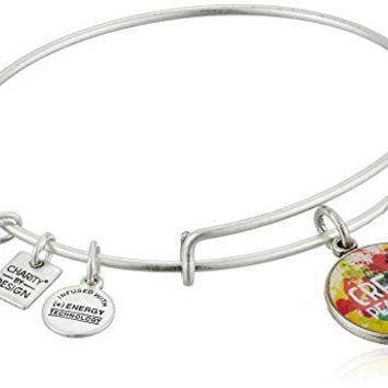 Alex and Ani Charity By Design Peace of Mind Rafaelian Silver Bangle Bracelet