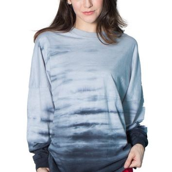 Venley Women's Long Sleeve Scorch Tie Dye T-Shirt