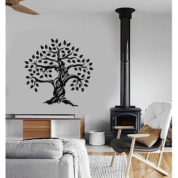Vinyl Wall Decal Forest Family Oak Tree Nature Style Decor Stickers (3779ig)