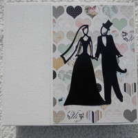 6x6 Chipboard Wedding Chipboard Scrapbook Album