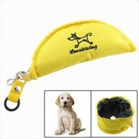 Fold Fabric Portable Travel Dog Pet Food Water Bowl