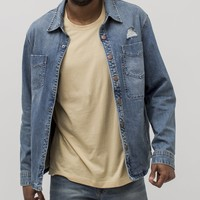 Denim Destroy Shirt Jacket