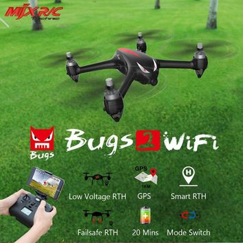 MJX B2W Bugs 2W 2.4G 6-Axis Gyro Brushless Motor Independent ESC 1080P Camera Drone Quad Wifi FPV GPS RC Quadcopter Dron