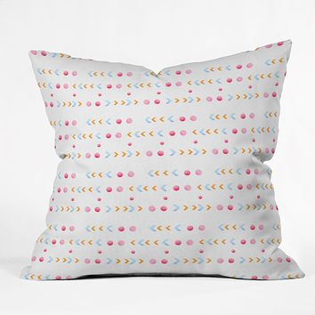 Laura Redburn Dot Dot Chevron Throw Pillow