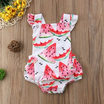 Elodie's Sliced Watermelon Romper