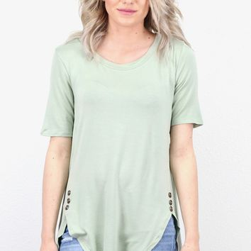 Button It U-Hem Tunic {Sage}