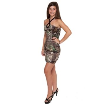 Realtree ® Camo Short Halter Dress | Free Shipping