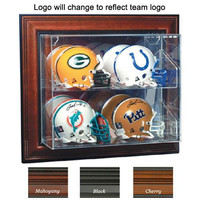 San Francisco 49ers NFL Case-Up 4 Mini Helmet Display Case (Horizontal) (Cherry)